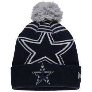 Dallas Cowboys New Era Black Logo Whiz 2 Cuffed Knit Hat   Cap ... 3b86dde90