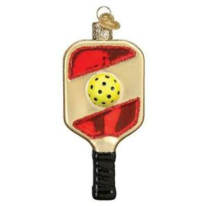 Old World Christmas PICKLEBALL PADDLE (44158)N Glass Ornament w/ OWC Box