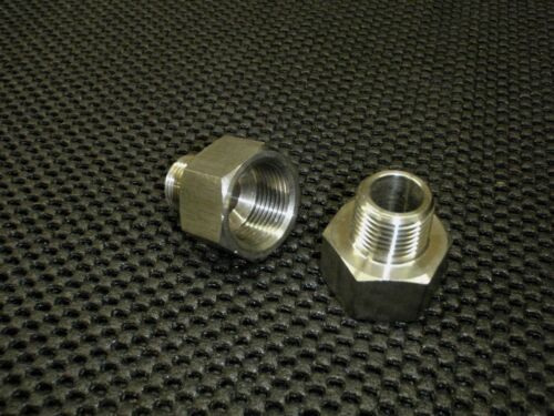 """STAINLESS STEEL ADAPTER REDUCER 3//8/"""" FEMALE x 1//4/"""" MALE NPT PIPE AR-037F-025M"""