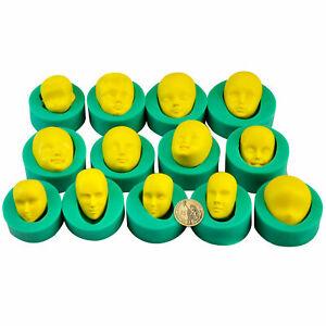 13-pezzi-3D-Stampo-in-silicone-viso-Caramelle-morbide-Resina-sapone-all-039-argilla