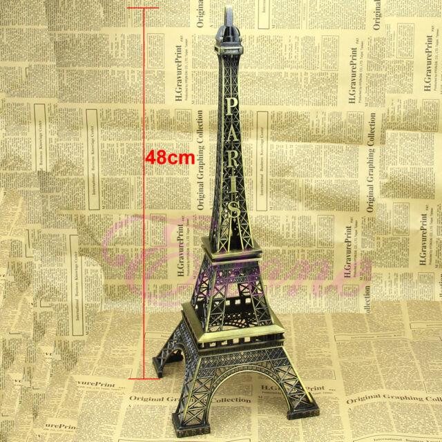 6 Sizes Bronze Tone Paris Eiffel Tower Figurine Statue Vintage Alloy Model Decor