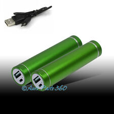 2PCS 2600MAH EXTERNAL BACKUP BATTERY CHARGER MICRO USB GREEN GALAXY S3 S4 NOTE