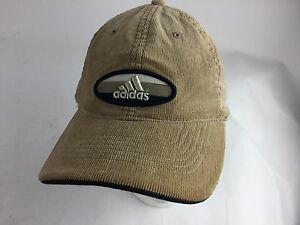 ADIDAS COTTON CORDUROY Tan BROWN CAP-LOGO BUCKLE ADJUST-ALL COTTON ... 29bc6841f0c