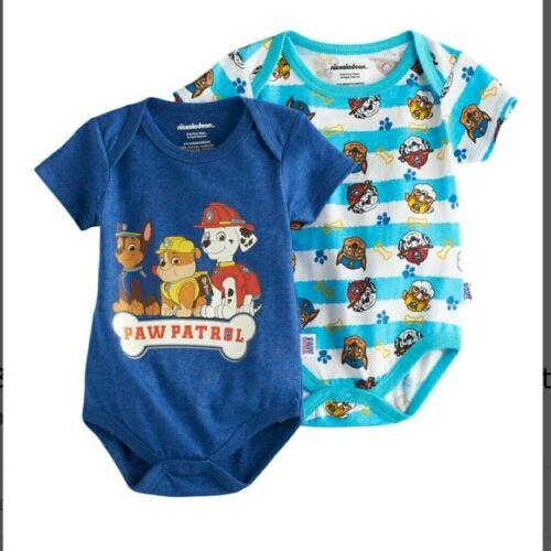 NWT Baby Boy Bodysuits Batman Paw Patrol Lot of 2 BABY SHOWER GIFT Superman
