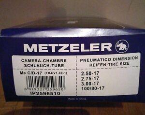 NEU *Metzeler Motorradschlauch Me C/D-17 / 2.50-17, 2.75-17, 3.00-17, 100/80-17 - München, Deutschland - NEU *Metzeler Motorradschlauch Me C/D-17 / 2.50-17, 2.75-17, 3.00-17, 100/80-17 - München, Deutschland