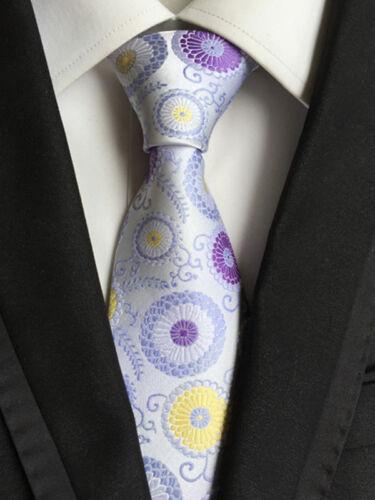 115KT Morden Hommes 100/% Soie Cravate Floral Fleurs étanche fête de mariage liens