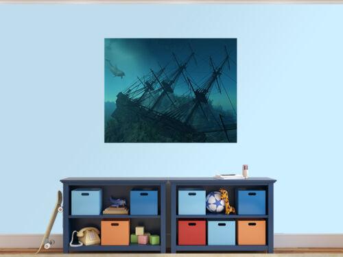 unter dem Meer 7972896 Versand Wrack Unterwasser Foto Wandtapete Wandgemälde