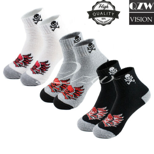 New Lot 3-12 Pairs Mens Ankle Quarter Crew Sports Socks Cotton Low Cut Size 9-13
