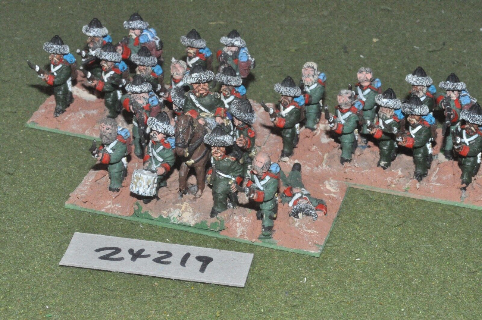 28mm 19th century   russian - crimean regiment 24 figures - inf (24219)