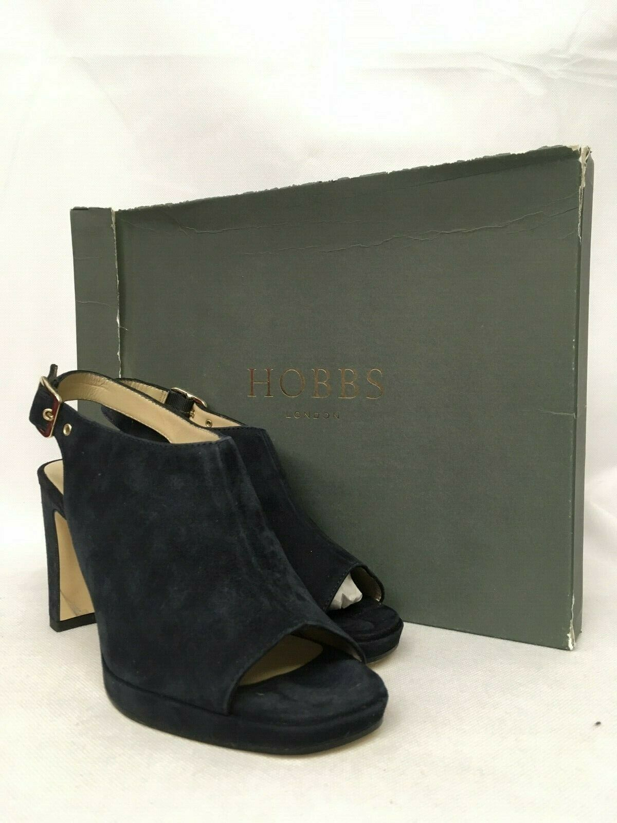 Hobbs Gemma Fine Suede Navy Platform shoes. Various Sizes.