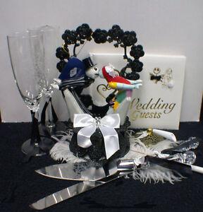 Nightmare before Christmas LOT Wedding Cake Topper Glasses Server ...