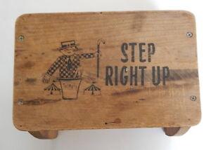 Pleasing Vintage Wooden Step Stool R13967 Ebay Ibusinesslaw Wood Chair Design Ideas Ibusinesslaworg