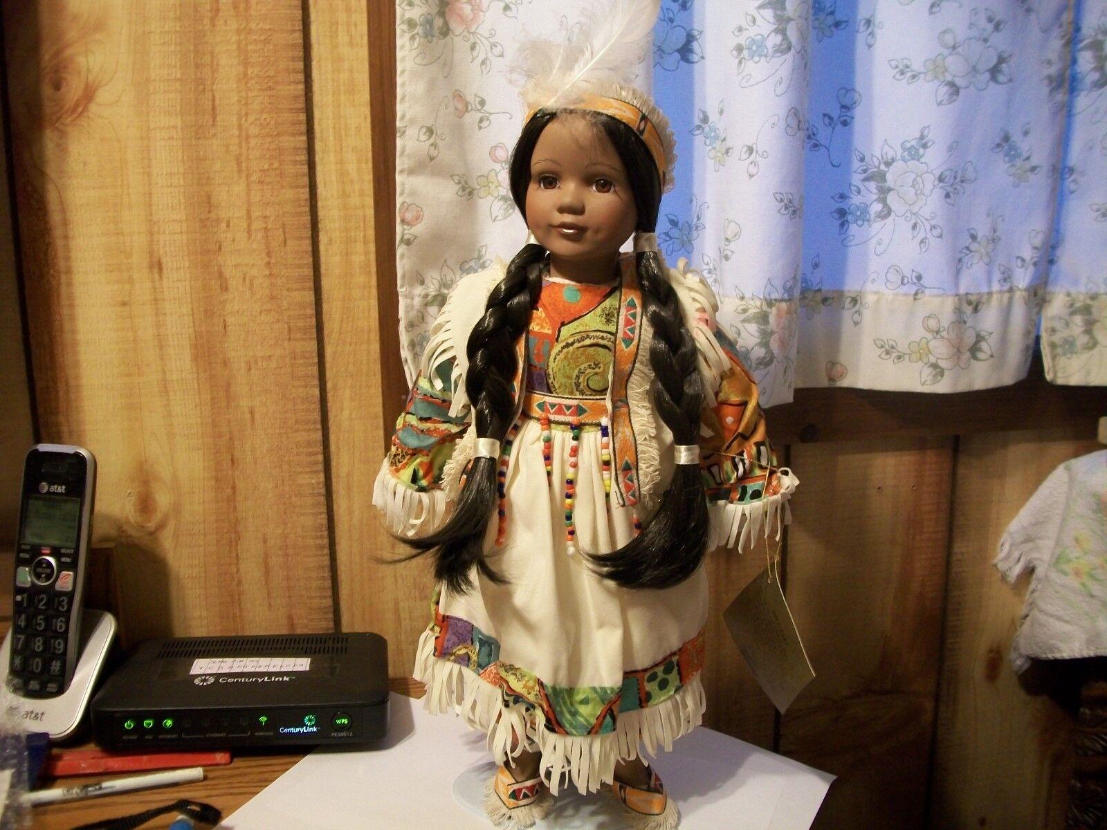 16  Seymour Mann connisseur indio muñeca con soporte de metal-Hermoso