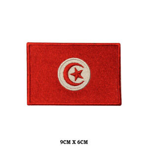 Tunisia National Flag Embroidered Patch Iron on Sew On Badge For Clothes etc