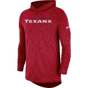 Nike NFL 2018 Houston Texans Sideline Slub Dri-FIT Hooded Long ... ef2c87879