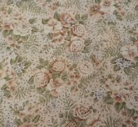 Soft Floral Print By Peter Pan Fabrics Bty Calico Golden Tan Lavender