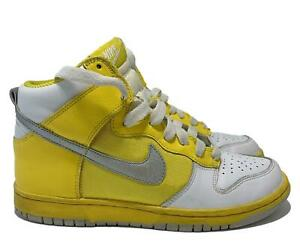 NIKE HIGH-TOP SUNFLOWER YELLOW COLOR SNEAKERS, 7.5