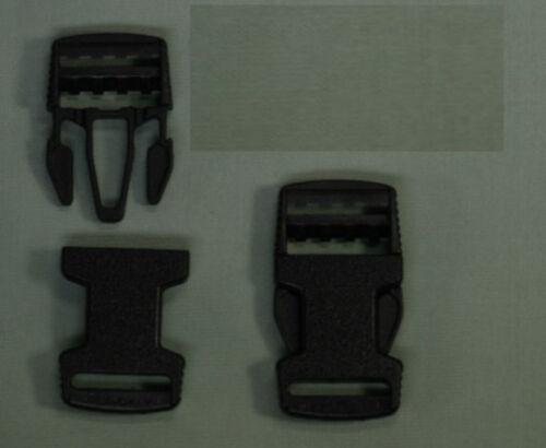 2 Pièces Boucles steckschließen 20 mm Noir