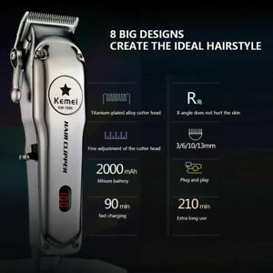 Kemei-KM-1996-Metal-Electric-Hair-Clipper-Professional-amp-Home-Hair-Trimmer-Tool