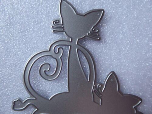 Siamese Cats//Kittens Metal Cutting Die,Stencil,Crafts,Card Making,Scrapbooking