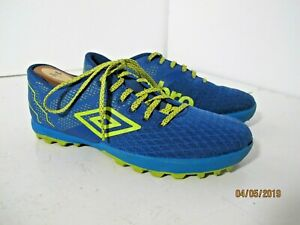4a84ccae6 Umbro Turf Soccer Cleats Shoes Blue/Yellow Women's / Youth U.S. Size ...