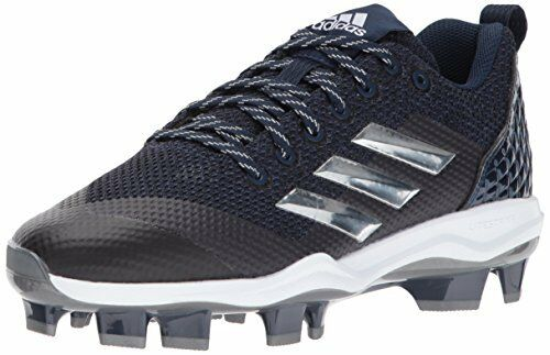 Adidas Men's Freak X Carbon Mid Softball shoes, Collegiate Navy Metallic Si..