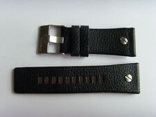 DIESEL Original Ersatzband Lederarmband DZ7125 Uhrband schwarz watch strap black
