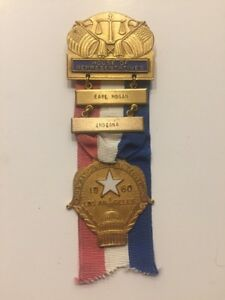 1960-Democratic-National-Convention-MEMBER-OF-CONGRESS-Badge-John-F-Kennedy
