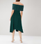 New-Ex-Coast-Oriel-Lace-Bardot-Dress-Forest-Green-Chic-Was-119-Now-29-Save-90 thumbnail 11