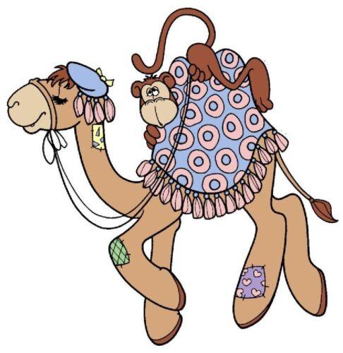 """8.5/"""" momentos preciosos animais de estimação Camel Macaco seguro Adesivo Border Corte 4.5/"""""""