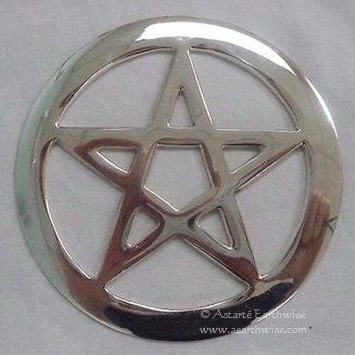 ALTAR PENTACLE Wicca Pagan Witch Goth METAL RITUAL TOOL ALTAR PENTAGRAM