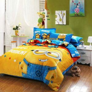 Copripiumino Matrimoniale Minions.Complete Bed Minions Duvet Cover Bedding Pillowcase Pillow Various