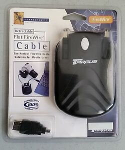 Targus-firewire-cable-flat-retractable-with-adapter-PA215U