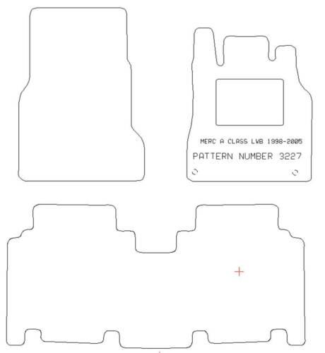 MERCEDES A CLASS LWB W168 TAILORED CAR MATS /& SILVER STRIPE TRIM 3227 1998-05