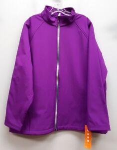 IDEOLOGY-Size-1X-Purple-Full-Zip-Fleece-Lined-Jacket