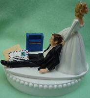Wedding Cake Topper Mailman Mail Carrier Postal Worker Post Office Groom Themed