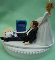 Wedding Cake Topper Mailman Mail Carrier Postal Worker Post Office Groom Themed