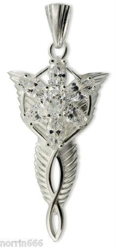 Señor de los anillos colgante ARWEN grande en plata