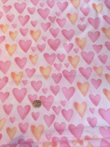 Hearts-Party-Animals-100-193-Pink-Fabri-quilt-100-Cotton-Quilting-Craft-fabric