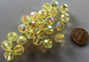 9a87b9bd6c8a9 Details about TWENTY-FOUR (24) 10mm JONQUIL YELLOW AB Round Swarovski  Crystals Style 5000