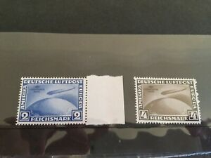 Germany Zeppelin Sudamerica Fahrt modern reprint stamp set