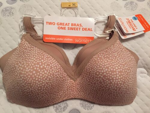 shirt T free Retail Bra's Wire 4011 Style 60 Warner's New Invisible W Two tags 7nEIBXTqq
