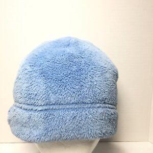 Women s Land s End Blue Winter Ski Fleece Hat Cap Bucket Cloche Size ... 4c0200afa1e2
