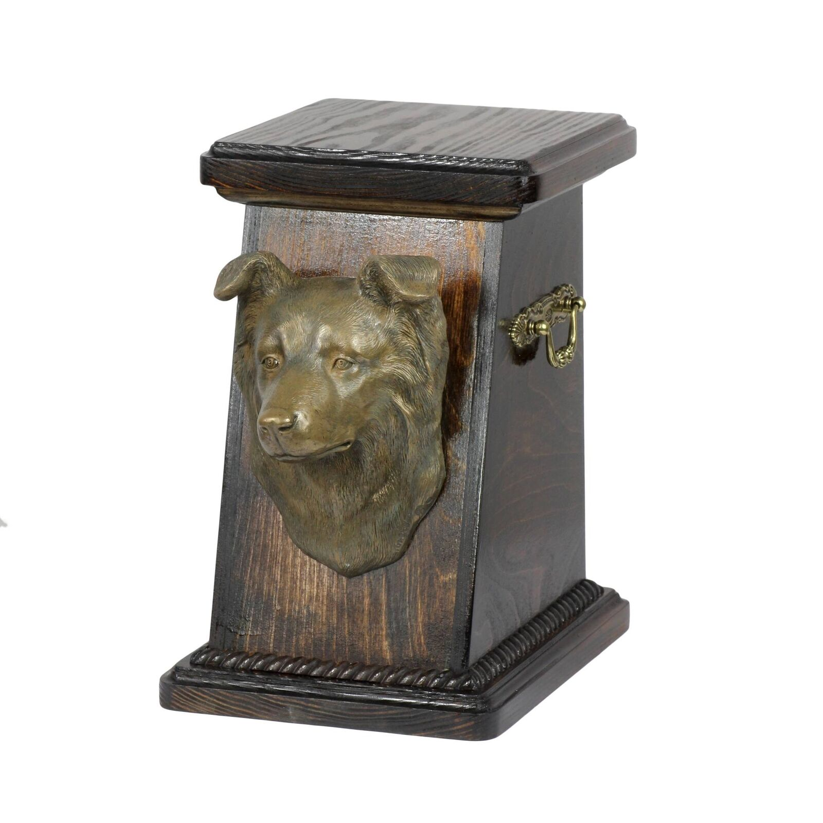 Border Collie - exclusive urn for dog with statue, Art Dog type 2