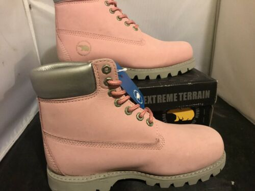 Womens Ladies Bear Boots Extreme Terrain In Pink Size 6.5