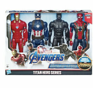 Marvel-Avengers-12-034-Action-Figure-4-Pack-Titan-Hero-Series-Inc-Black-Panther