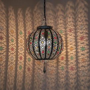 orientalische lampe h ngeleuchte marokkanische laterne h ngelampe latifa silber ebay. Black Bedroom Furniture Sets. Home Design Ideas