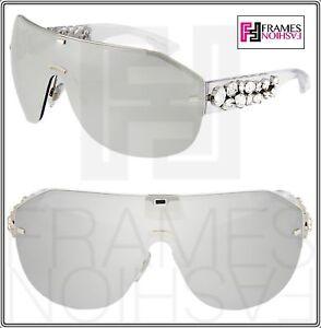 ed5bf54991d Dolce   Gabbana DG 2150B Clear Silver Wrap Oversized Mirrored ...