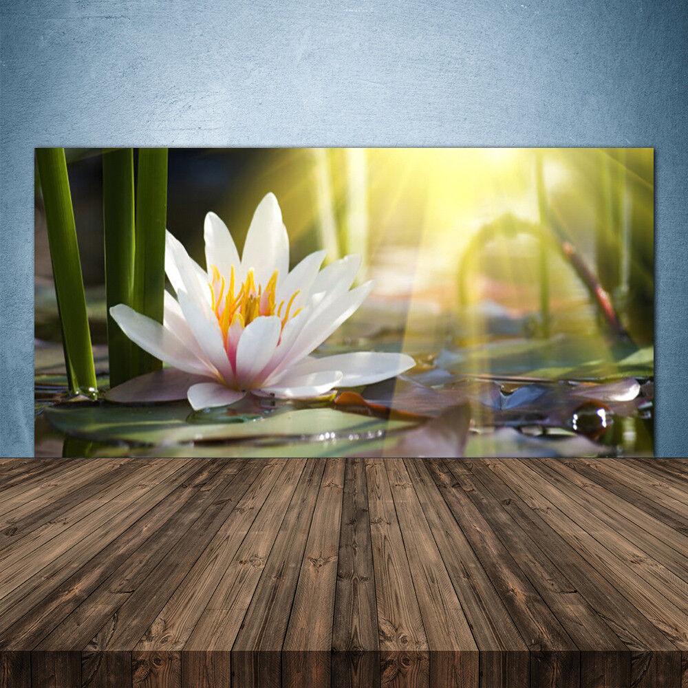 Crédence de cuisine en verre Panneau 140x70 Floral Eau Fleur