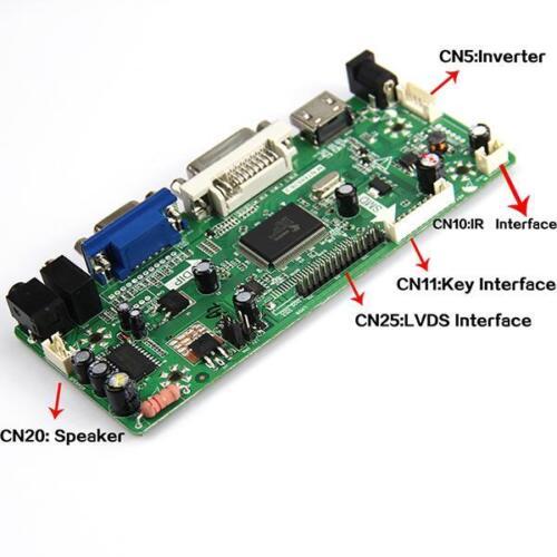 "HDMI+VGA+DVI+Audio for B156XW01 V.2  LTN156AT01 1366x768 15.6/"" Controller Board"